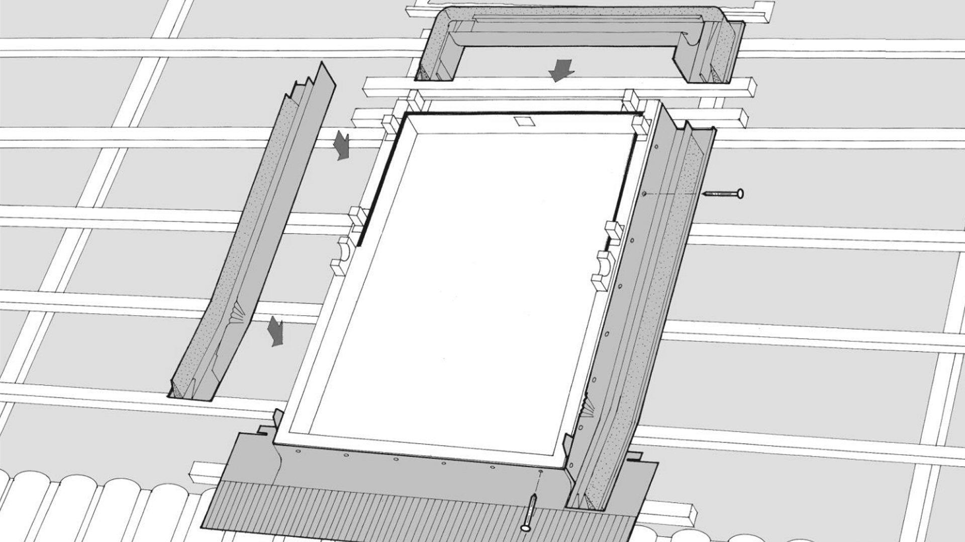 Schindler tetősík ablak beépítése.